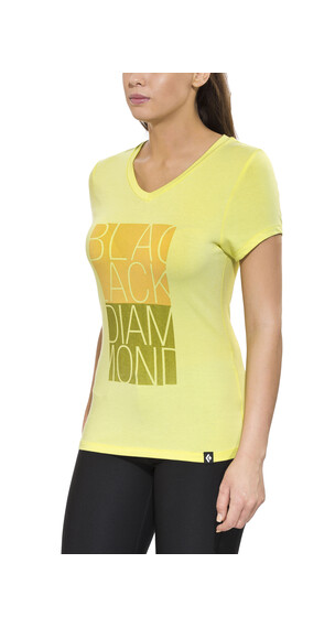 Black Diamond Graphic t-shirt geel/groen